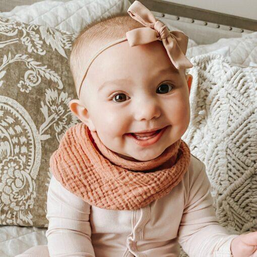 silicone slab Newborn Infant Cotton Gauze Scarf Bib Organic Cotton Bib Scarf Baby Bandana Kids Soft 4