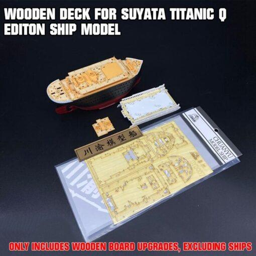 upgrade Wooden Deck for Suyata Titanic Q Editon Ship Model TMW00122 Assembly DIY Kits 1