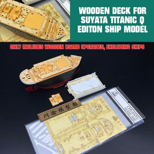 upgrade Wooden Deck for Suyata Titanic Q Editon Ship Model TMW00122 Assembly DIY Kits 5