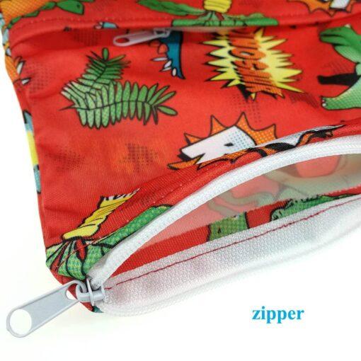 usurpon 1 pc 45 60cm Double pocket waterproof pul zipper wet bag reusable babies cloth 1