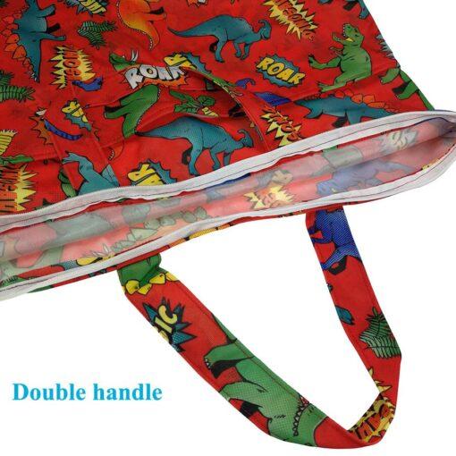 usurpon 1 pc 45 60cm Double pocket waterproof pul zipper wet bag reusable babies cloth 3