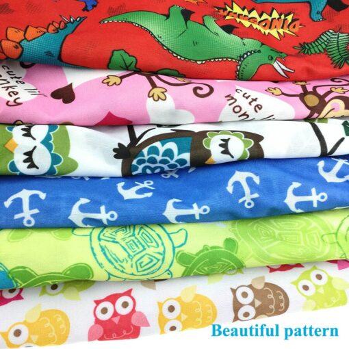 usurpon 1 pc 45 60cm Double pocket waterproof pul zipper wet bag reusable babies cloth 5
